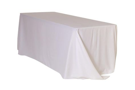 90 X 132 Inch Rectangular Polyester Tablecloth White Table