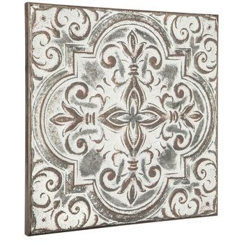 Embossed Quatrefoil With Swirls Metal Wall Decor Hobby Lobby 1644053 Outdoor Wall Decor Quatrefoil Metal Wall Decor