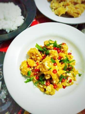 Resep Salted Egg Chicken Ayam Goreng Saus Telur Asin Oleh Prastitasari Resep Ayam Goreng Telur Makanan