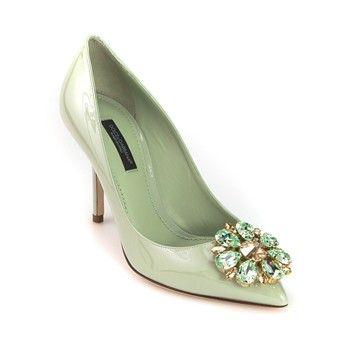 Dolce & Gabbana - Pumps aus Leder - grün - 2202690