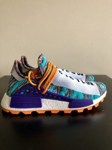 official photos 1e8cf 2310b ADIDAS NMD HU PHARRELL SOLAR PACK ORANGE NERD CHANEL HUMAN ...