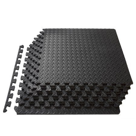 Prosourcefit Puzzle Exercise Mat 1 2 Thick Eva Foam Interlocking Tiles Walmart Com In 2020 Interlocking Tile Mat Exercises Floor Workouts