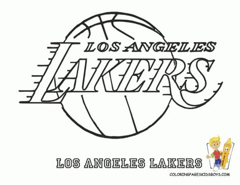 Image Result For Los Angeles Lakers Coloring Pages Sports