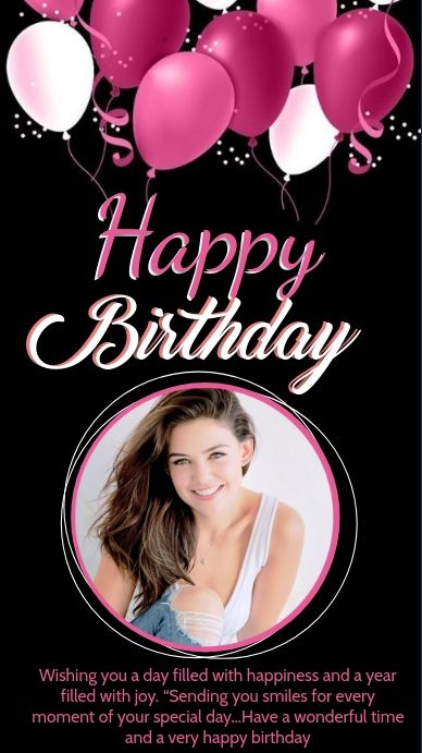 Happy Birthday Wishes Card Design Template Happy Birthday Wishes Cards Happy Birthday Wishes Birthday Wishes With Photo