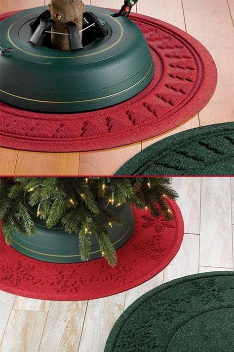 Christmas Tree Skirt-Grinch-Naughty-Red-Green-Santa-Santa Hat-Dog-Made with Grinch Fabric-Holiday Decor-36