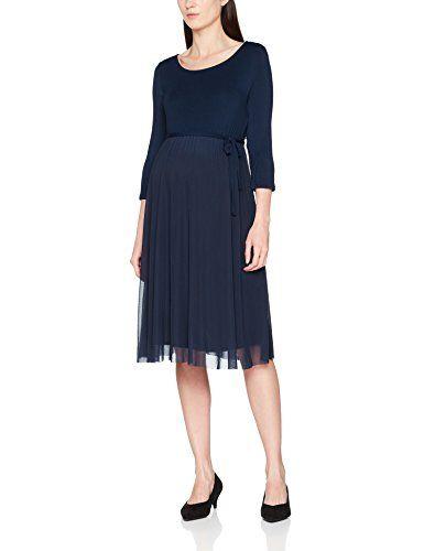 1689521d1754 MAMALICIOUS Damen Umstandskleid Mlbianka 3/4 Abk Jersey Dress Blau (Navy  Blazer Navy Blazer