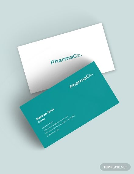 Pharmacy Business Card Template Free Jpg Illustrator Word Apple Pages Psd Publisher Template Net Business Card Template Word Medical Business Card Cleaning Business Cards