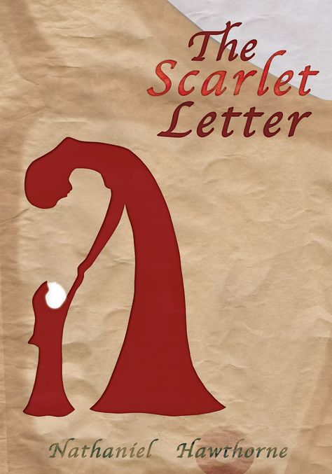 The Scarlet Letter Book Cover.The Scarlet Letter Nathaniel Hawthorne Cover Art By