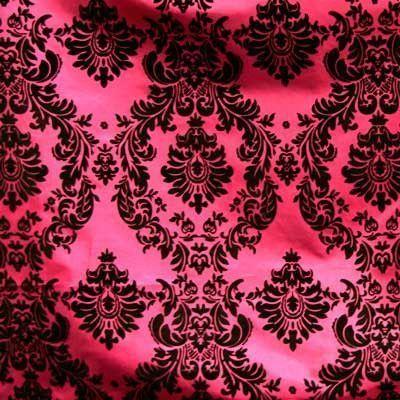 "20 Yards Pink Brown Flocking Damask Taffeta Velvet  Fabric 58/"" Flocked Decor"