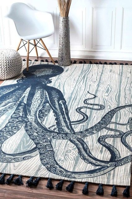Octopus Rugs And Octopus Area Rugs Nautical Area Rugs Octopus