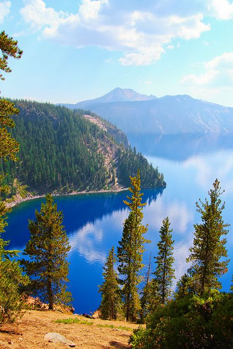 Crater Lake, Oregon: Home of the remarkably blue, crystal clear waters of the nation's deepest lake.