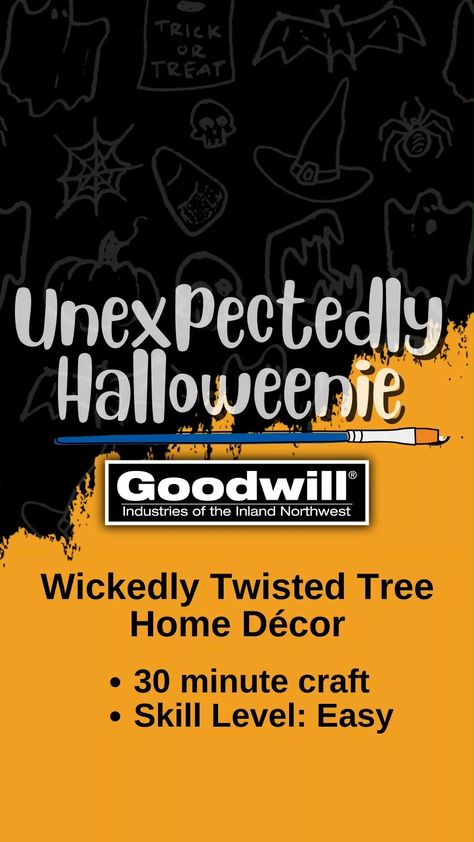 Wickedly Twisted Tree Halloween DIY Home Decor
