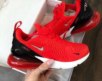 Air Max 270 Damen Etsy De Red Nike Shoes Red Nike Shoes Womens White Nike Shoes