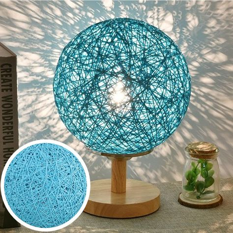 Nature's Sepak Takraw wooden Table Lamp   Natural Home Lightning   Addyzeal