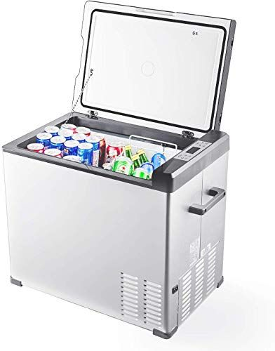 Chic Aspenora Portable Refrigerator 48 Quart Mini Fridge With Freezer Compressor Car Freezer Portable Fridge In 2020 Portable Refrigerator Portable Fridge Mini Fridge