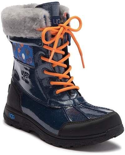 e8768d78bdf UGG Butte II Waterproof Genuine Shearling Lined Leather Boot (Little ...