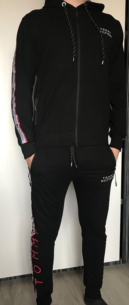 New Tommy Hilfiger Men Tracksuit Trousers Jacket Black Colour Size Xl 2xl Fashion Clothing Shoes Accessories Tracksuit Outfit Mens Outfits Tracksuit