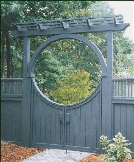 Best Heavenly Moon Gate Ideas For Your Garden 40 Pictures Best Heavenly Moon Gate Ideas For Your Garden 40 In 2020 Garden Gates Wood Arbor Garden Gates And Fencing