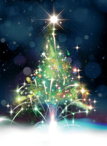 Contemporary Christmas Cards 2020 Firework Christmas Tree   AD1207 A fantastic card full off impact