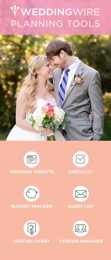 Sign up for WeddingWire's free wedding planning tools to help you plan the wedding of your dreams!