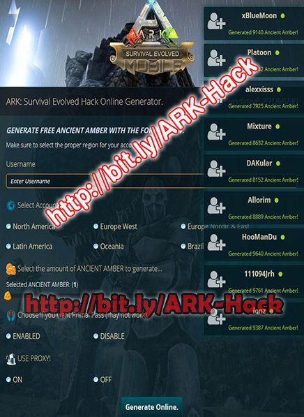 Ark Survival Evolved Mobile Hack Generate Free Ancient Amber 2018 Ark Survival Evolved Hack Online Survival