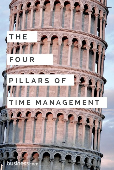 4 pillars of time management that will keep you on schedule.   Whether in the office or at home, your grasp of effective time management will improve your overall life and will have a positive effect on your relationships.