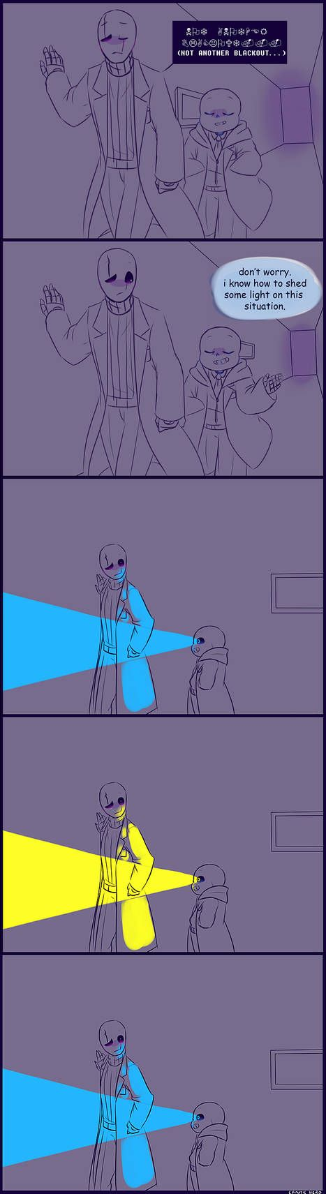 Sans and Gaster Undertale Flashlight by chaoticshero on DeviantArt