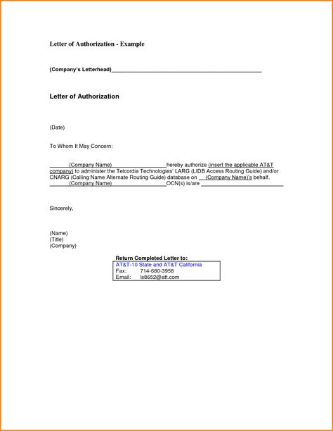 Authorization Letter Format Post Office Application Medical Sample