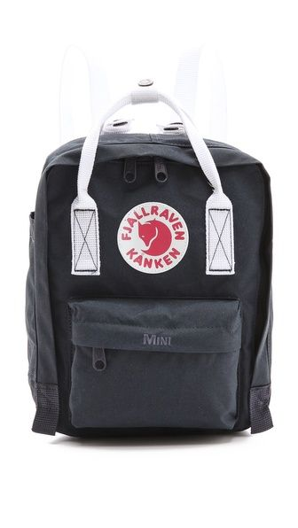 Backpack Details Smaller version of the iconic Kånken. Backpack Sizes and details - Carried as a backpack or a bag via covertible straps. - Removable seat pad, reflector in logo and front/side pockets