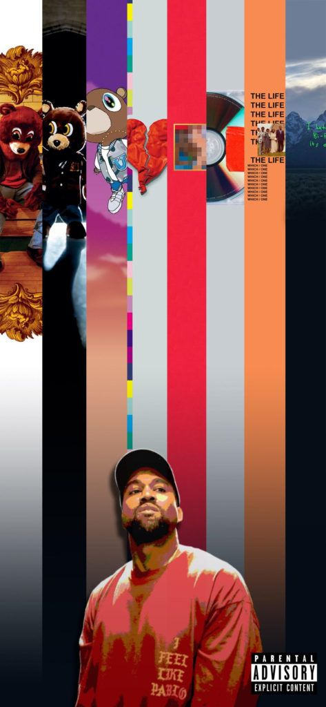 8 Covers Of Kanye West Sliced For Wallpaper Kanye West Album Cover Kanye West Albums Kanye West Wallpaper
