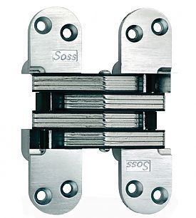 Universal Industrial Products Soss 218us26 Soss 4 5 8 117mm H Heavy Duty Invisible Hinge Each Bright Chrome The Hardware Hut Invisible Hinges Concealed Hinges Hinges