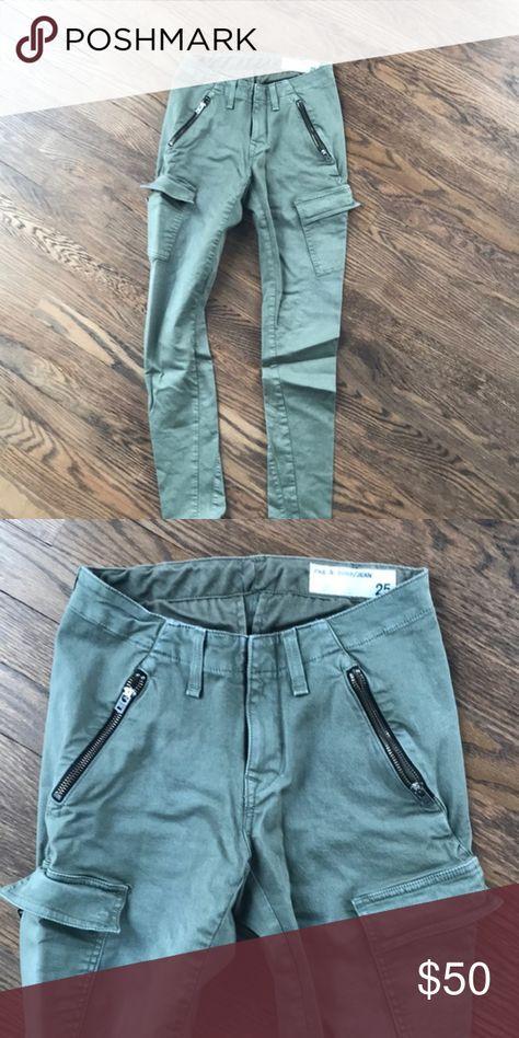 5d98cd6499 Rag and Bone Skinny Cargo Jeans Skinny stretch green jeans rag & bone Jeans  Skinny