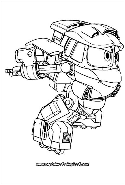 Pin On Robot Trains Coloring Page