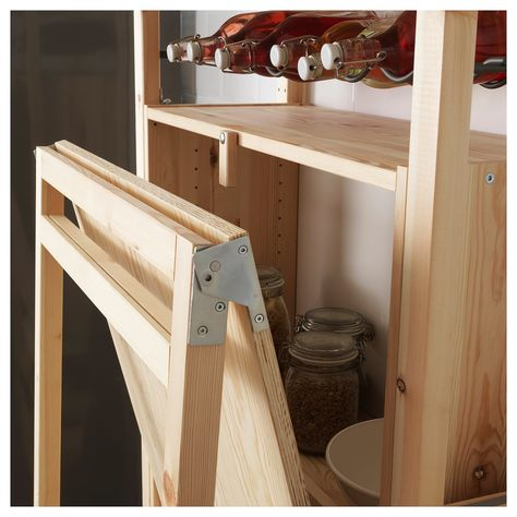 IKEA - IVAR Storage unit with foldable table pine