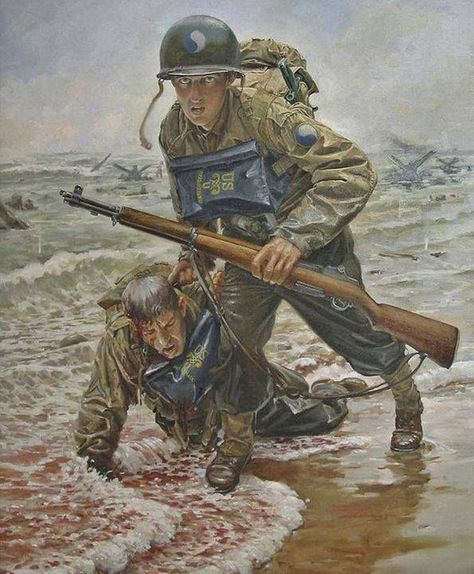 Sean Sullivan - D Day: Infantry Division was in the first wave of troops ashore during Operation Overlord at Omaha Beach while being the most difficult of the 5 landing beaches.
