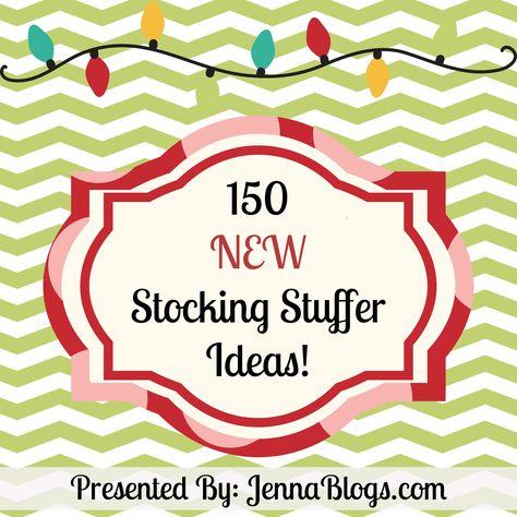 150 NEW Stocking Stuffer Ideas for Everyone!  ~~~Brand NEW List for 2012!~~~ #stocking #stuffer #Christmas