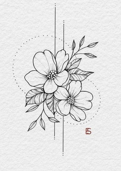 Ohne Titel #Tattoos #Ale #flowertattoos  flower tattoos designs #tattoo