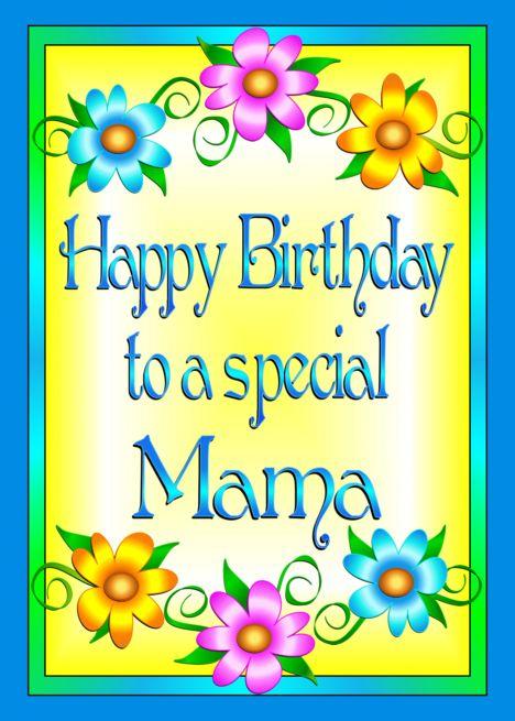 Happy Birthday Mama Flowers Card Ad Spon Birthday Happy