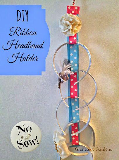 Diy Ribbon Headband Holder Tutorial No Sew Headband Holder Headband Organizer Diy Diy Headband