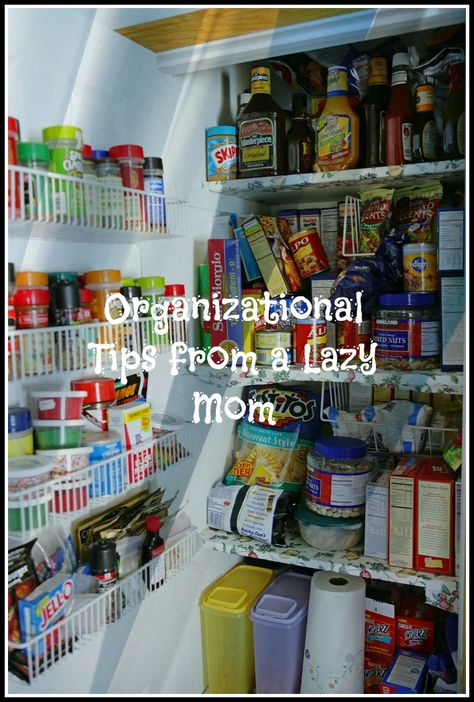 home organization tips from a lazy mom.  This is what I need - tips from someone like me.