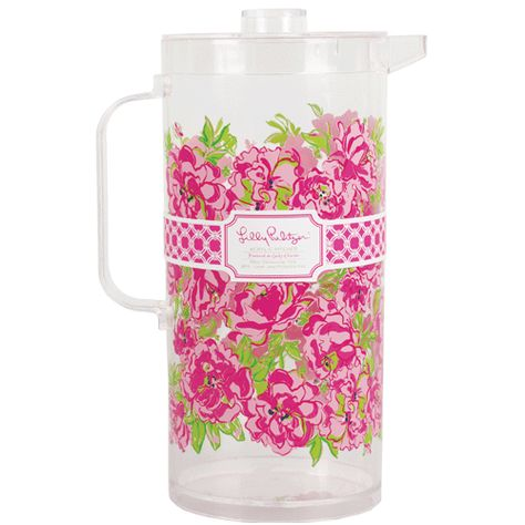 Bigger Size! Lilly Pulitzer Acrylic Pitcher 89oz - Lucky Charms Green   Lifeguard Press $26