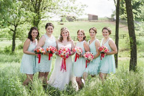 Virginia Barn Wedding with Colorful Flowers