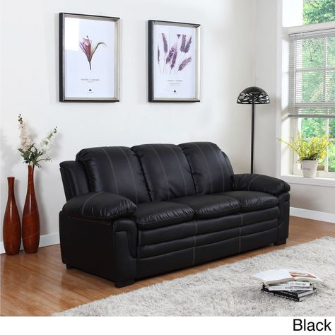 Cool Madison Classic Bonded Leather Living Room Sofa With White Pabps2019 Chair Design Images Pabps2019Com