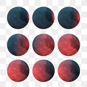 Red Moon Combination Half New Moon Half Month Png Transparent Clipart Image And Psd File For Free Download In 2020 Red Moon Red Smoke Red Background