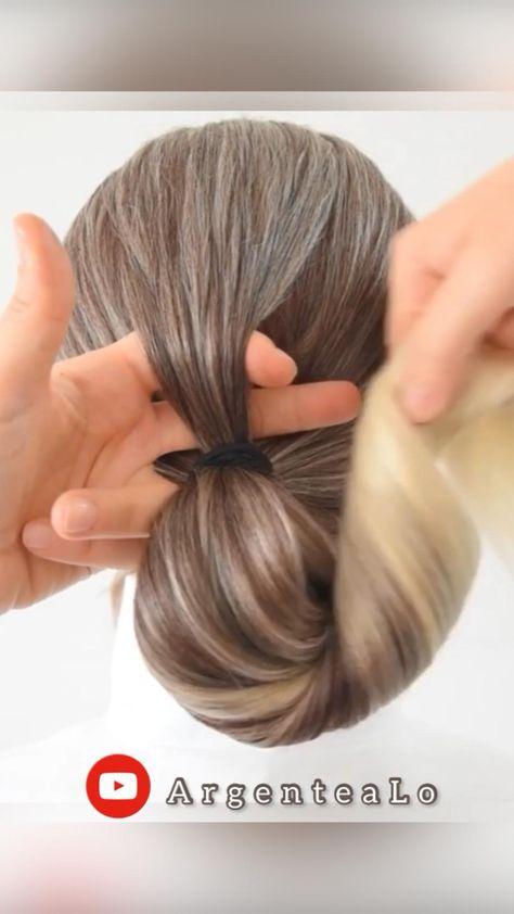 Easy Bun Hairstyle 🤎