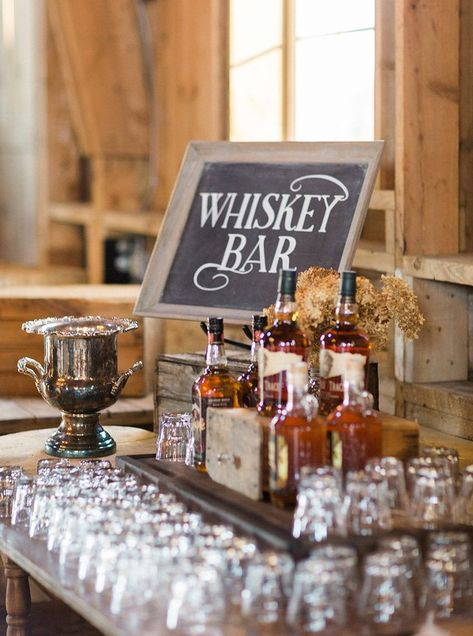whiskey bar at reception, romantic organic elegant outdoor wedding at sugarland barn, arena wisconsin, gold and blush wedding, photo by Laurelyn Savannah Photography wedding buffet Barn Wedding Photos, Wedding Tips, Fall Wedding, Wedding Ceremony, Our Wedding, Wedding Venues, Wedding Planning, Dream Wedding, Winter Wedding Venue
