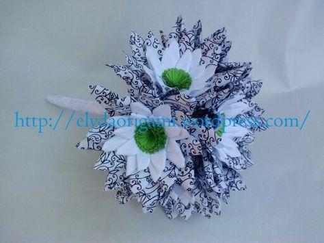 Buchet De Mireasa Cu Margarete Origami Wedding Design