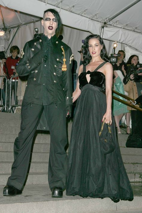 Marilyn Manson and Dita Von Teese at the 2005 Costume Institute Gala