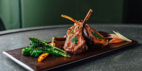 Hideki Hiwatashi's Teriyaki lamb recipe celebrates spring ingredients, from juicy lamb cutlets to broccoli and asparagus. These grilled lamb chops make a fantastic and low-carb dinner dish.