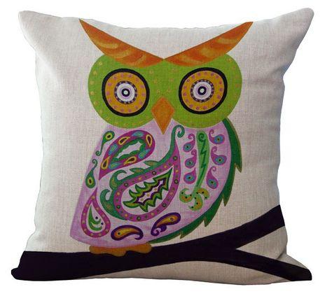 Custom Made Pink Paisley Owl Baby Wall Art / Child Wall Art Owl Nursery Painting (Not A Print) - Whimsical Owl